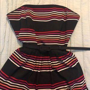 White House Black Market | Striped Strapless Dress